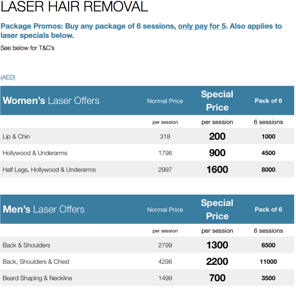 Laser Hair Removal Offers October 2017