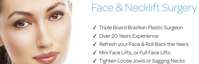 Brazilian Plastic Surgeon for Facelift and Necklift surgery in Dubai UAE